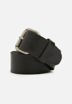 Jack & Jones Footwear & Accessories Jakob Leather Belt Black