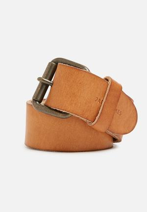 Jack & Jones Footwear & Accessories Jakob Leather Belt Tan