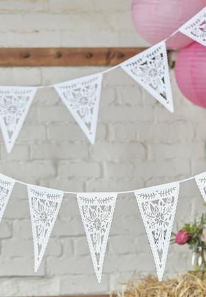 Ginger Ray Floral Die Cut Bunting Partyware Paper