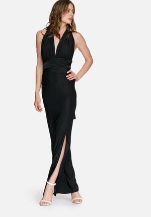 Missguided Slinky Multiway Maxi Dress Occasion Black
