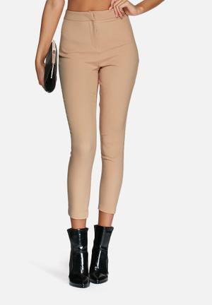 Missguided Tailored Cigarette Trousers  Camel
