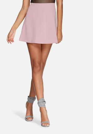 Missguided Lubiana Scuba Skirt Purple