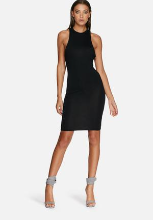 Missguided Low Armhole Midi Dress Occasion Black