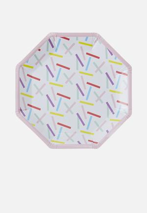 Ginger Ray Sprinkles Paper Plates Partyware Paper