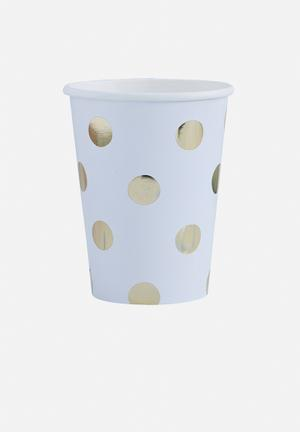 Ginger Ray Polka Dot Paper Cups Partyware Paper