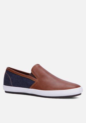 ALDO Haelasien Slip-ons And Loafers Tan & Navy