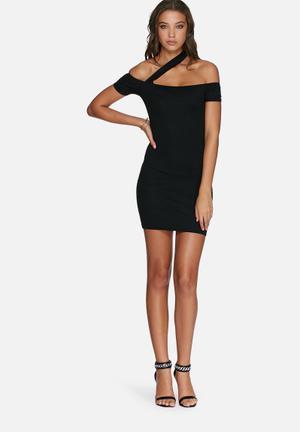 Missguided Bardot Bodycon Dress Occasion Black