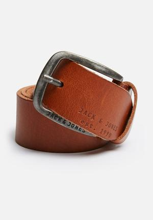 Jack & Jones Footwear & Accessories Paul Leather Belt Tan