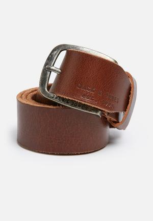 Jack & Jones Footwear & Accessories Paul Leather Belt Brown