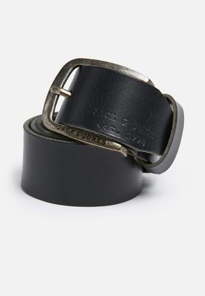Jack & Jones Footwear & Accessories Paul Leather Belt  Black