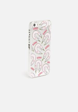 Skinnydip Babe Magnet IPhone 5 / 5S Cover Clear With Pink Magnets