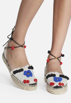 Espadril Mera Pumps & Flats Cream, Red & Blue