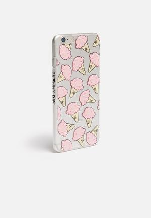 Skinnydip Ice Cream IPhone 6/6S/6Plus Cover Clear With Pink Ice Creams