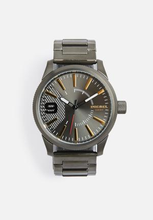 Diesel  Rasp Metal Watches Gun Metal