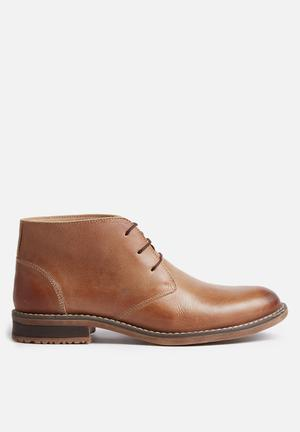 Grasshoppers Emerson Leather Boot Tan