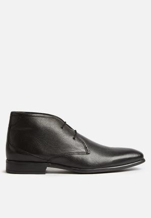 Watson Shoes Alexander Leather Boot Black
