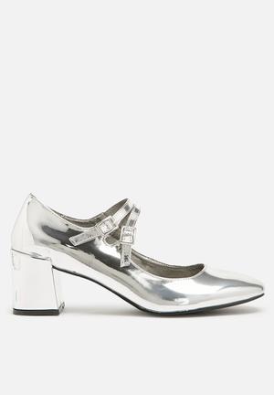 Glamorous Danica Heels Silver