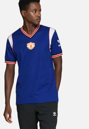 Adidas Originals Man United 1985 Jersey T-Shirts Blue, White & Red