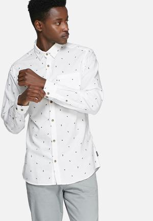 Jack & Jones Originals Urban Slim Shirt White & Navy