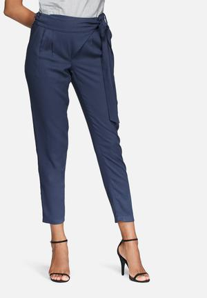 Dailyfriday Wrap Front Trousers Blue