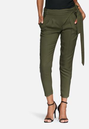 Dailyfriday Wrap Front Trousers Khaki