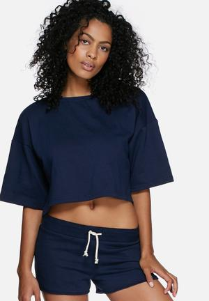 Dailyfriday Boxy Sweat Top T-Shirts, Vests & Camis Navy