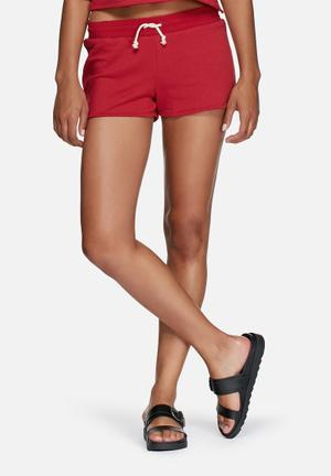 Dailyfriday Cotton Jogger Shorts Red