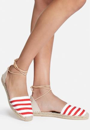 Espadril Playera Roja Pumps & Flats White & Red
