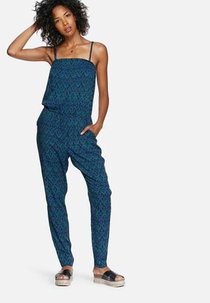 Vero Moda Newmaker Jumpsuit  Blue & Black