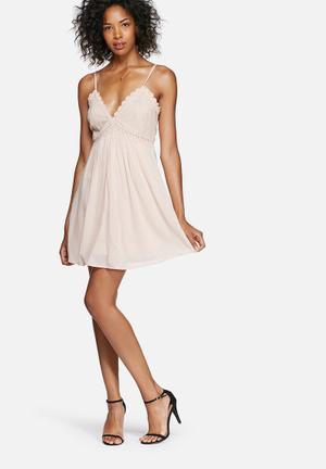 Vero Moda Lingerie Lace Dress Occasion Pink