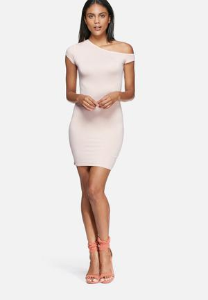 Missguided Lightweight Slouch T-shirt Dress Casual Pale Pink
