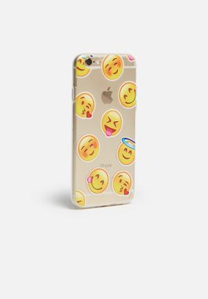 Hey Casey Smiley's - IPhone & Samsung Cover Clear With Emoticons