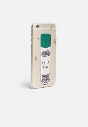 Hey Casey Chill Pills - IPhone & Samsung Cover Clear / Pink / Green