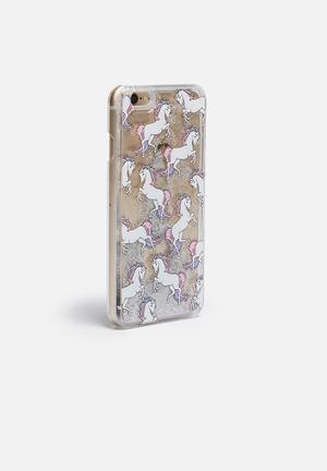 Hey Casey Glitterati - IPhone & Samsung Cover Clear With Unicorns & Glitter