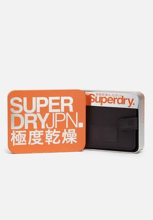 Superdry. Tab Wallet In A Tin Black