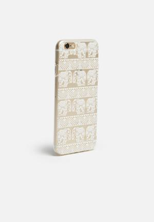 Hey Casey Tribal Elephants - IPhone & Samsung Cover Clear / White