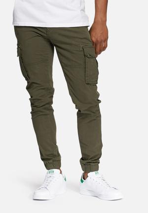Only & Sons Tang Cargo Cuff Pant Green