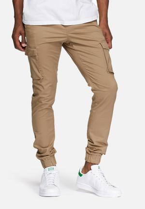 Only & Sons Cargo Slim Cuffed Pant Khaki