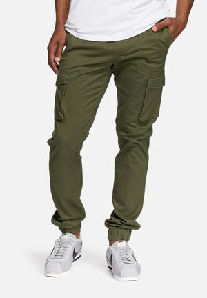 Only & Sons Cargo Slim Cuffed Pant Olive