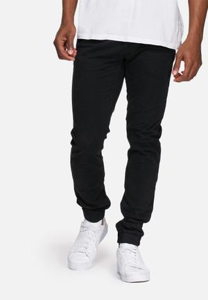 Only & Sons Tarp Cuffed Chino Black