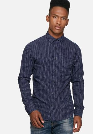 Only & Sons Steen Slim Shirt  Blue