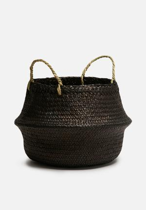 Sixth Floor Onyx Belly Basket Accessories Seagrass