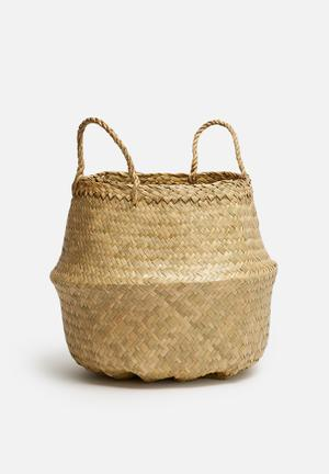 Sixth Floor Natural Belly Basket Accessories Seagrass