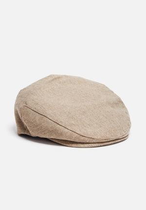 Brixton Hooligan Snap Cap Headwear Beige & White