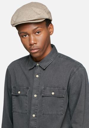 Brixton Hooligan Snap Cap Headwear Beige & White