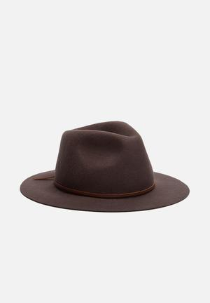 Brixton Wesley Fedora Headwear Brown