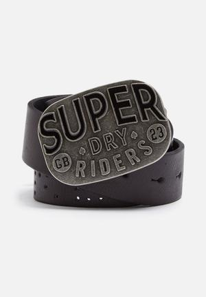 Superdry. Dry Riders Belt Black
