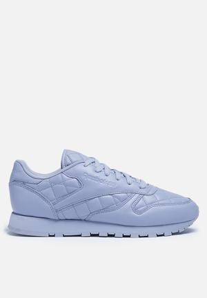Reebok Classic Leather Quilted Sneakers Purple Fog