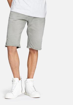 Superdry. Worn Wash Jean Shorts Grey