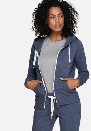ONLY Finley Zip Hood Hoodies & Jackets Blue